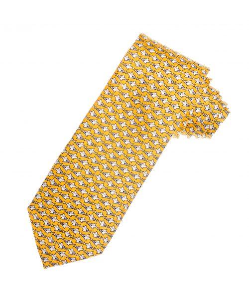 עניבה לגבר בצבע צהוב