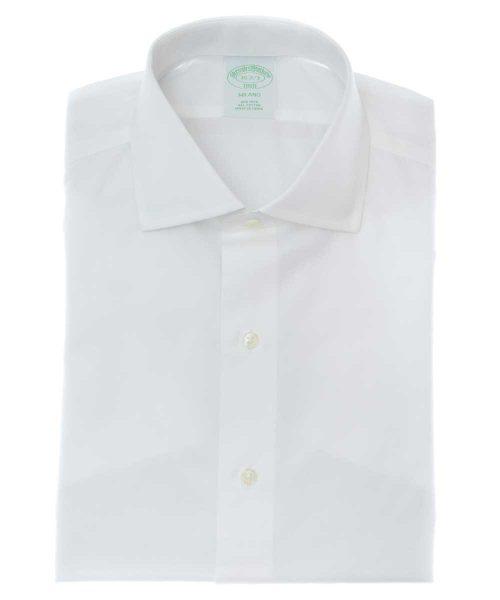 חולצה מכופתרת לגבר מותג פורור בצבע לבן צוארון מודרני