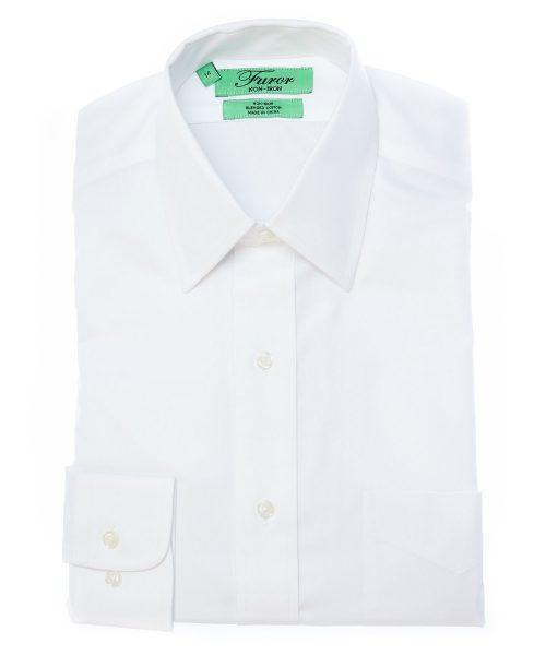 חולצה מכופתרת לגבר לבנה
